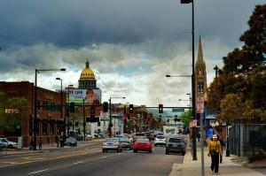 West shot down East Colfax, Denver, Colorado